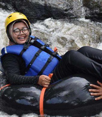outbound batu, river tubing batu, outbound taman dolan